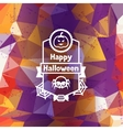 Happy halloween greeting card with badges ang vector image