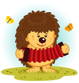 hedgehog with accordion