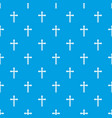 holy cross pattern seamless blue vector image vector image
