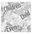 Important Air Travel Tips Word Cloud Concept vector image vector image