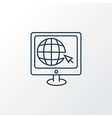 internet surfing icon line symbol premium quality vector image vector image