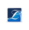letter l logo design template vector image