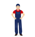 man in overalls vector image vector image