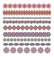 Mandala seamless pattern bordersstrips background vector image vector image