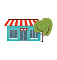 market building with trees exterior vector image vector image