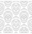 mexican sugar skull seamless pattern vector image vector image