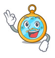 okay classic watch isolated on a mascot vector image