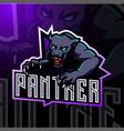 panther esport mascot logo vector image vector image