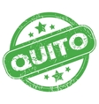 Quito green stamp vector image