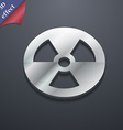 radiation icon symbol 3D style Trendy modern vector image