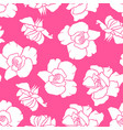 roses flowers pattern seamless vector image vector image