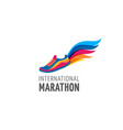 run icon symbol marathon poster and logo vector image