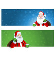 santa claus banner with place for text vector image vector image