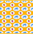 seamless pattern of blue elephants background vector image vector image