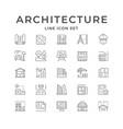 set line icons architecture