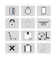 set of delivery symbols vector image