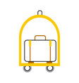 suitcase carrier isolated icon vector image vector image