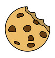 sweet cookie cartoon vector image vector image