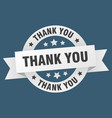 thank you ribbon thank you round white sign thank vector image vector image