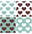 Tile hearts background set vector image vector image