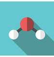 Water molecule long shadow vector image vector image