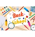 Welcome Back to school template with office vector image vector image
