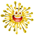 Yellow form with happy face vector image vector image