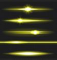 yellow laser beams pack vector image vector image