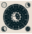 zodiac with the sun vector image vector image