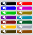 Skull icon sign Set from fourteen multi-colored vector image