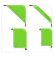green corner ribbons vector image