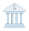bank building flat icon business and finance vector image
