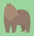 brown bear funny happy animal cartoon vector image