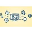 Communication Network vector image