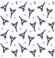 Eiffel Towers romantic seamless pattern vector image