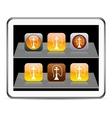 Hookah orange app icons vector image