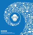 Monkey icon sign Nice set of beautiful icons vector image