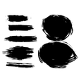 Set of artistic brush vector image