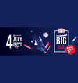 4th of july exclusive offers sale sale poster vector image