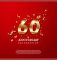 60th anniversary celebration golden number 60