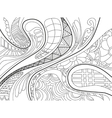 Abstract background with lines wave and flowers vector image vector image