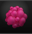 abstract molecules structure with particles vector image vector image