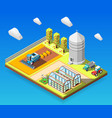 agricultural isometric design concept vector image vector image
