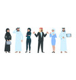 arab business people elegant saudi woman and man vector image vector image