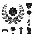 awards and trophies black icons in set collection vector image