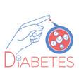 banner diabetes blood sugar vector image