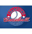 Baseball Champions league with ball vector image vector image