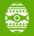 beautiful easter egg icon green vector image