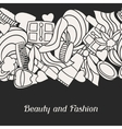 Beauty and fashion seamless pattern with cosmetic vector image