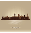 Bradfort England skyline city silhouette vector image vector image